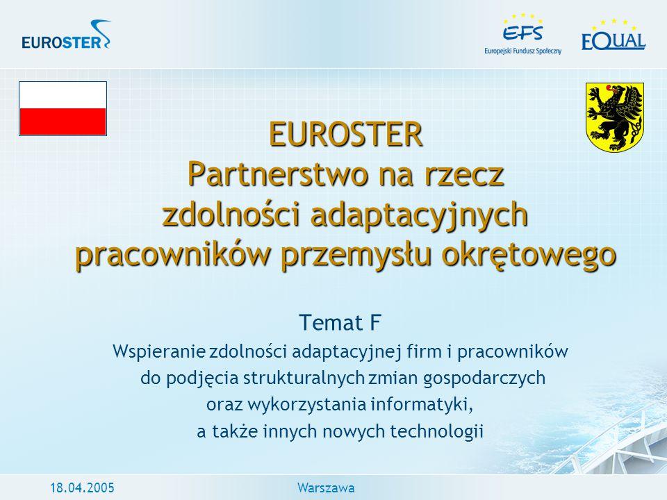 EUROSTER Partnerstwo na rzecz zdolności adaptacyjnych pracowników przemysłu okrętowego