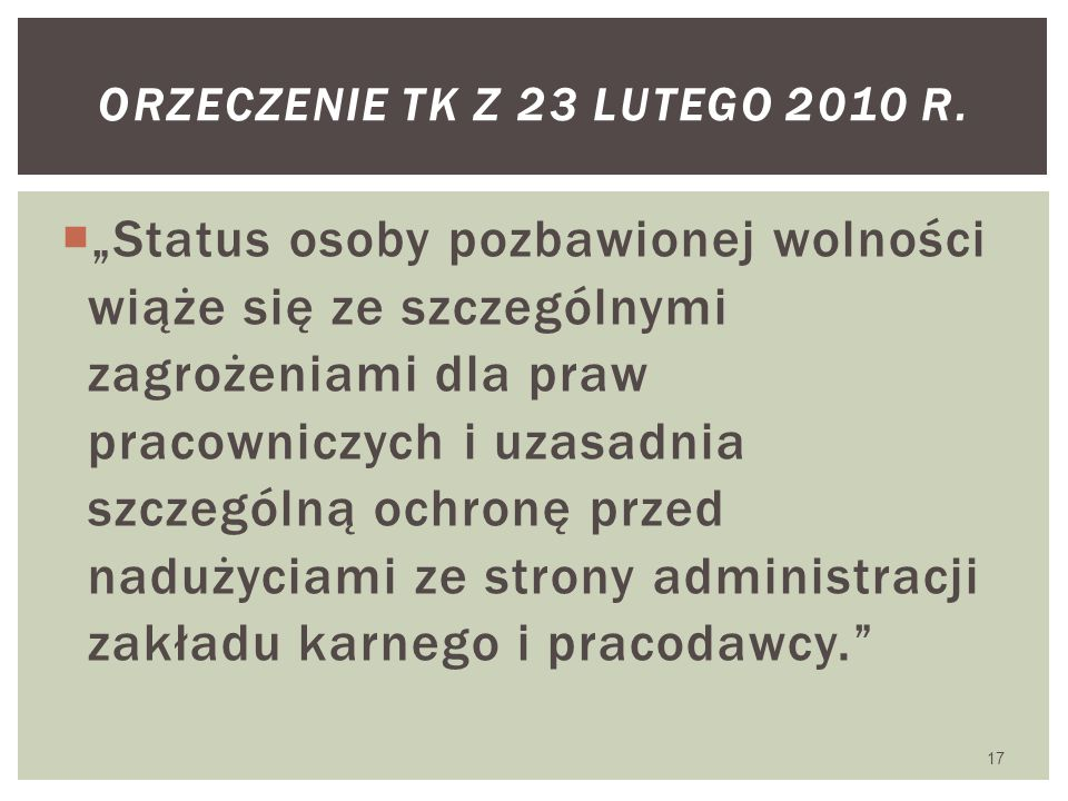 Orzeczenie Tk z 23 lutego 2010 r.