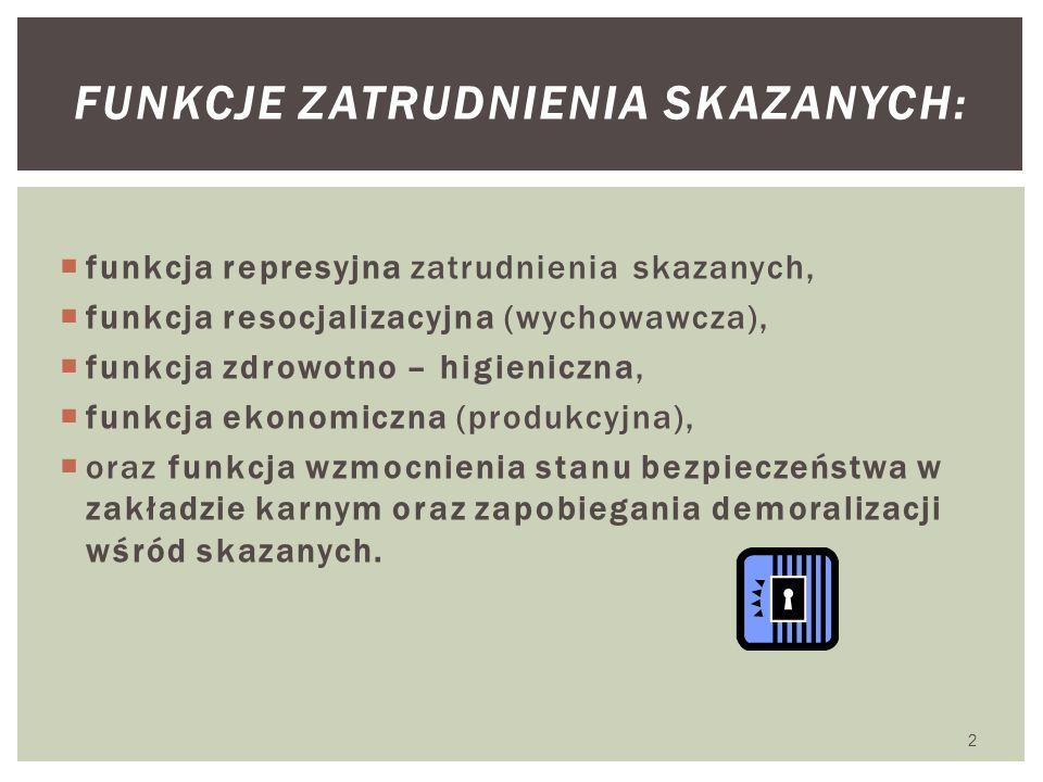 Funkcje zatrudnienia skazanych: