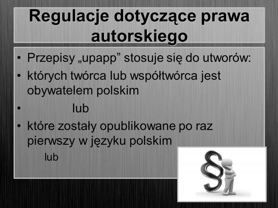 Regulacje dotyczące prawa autorskiego