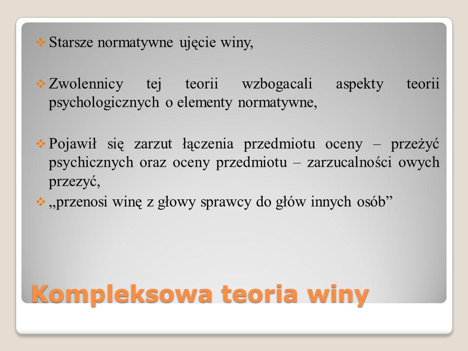 Kompleksowa teoria winy