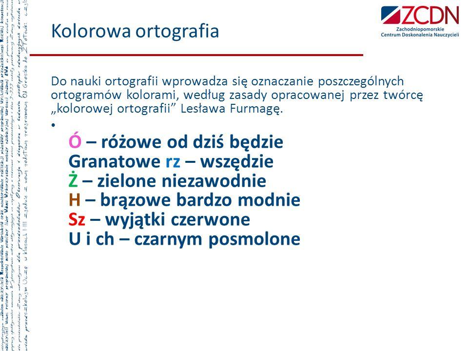 Kolorowa ortografia
