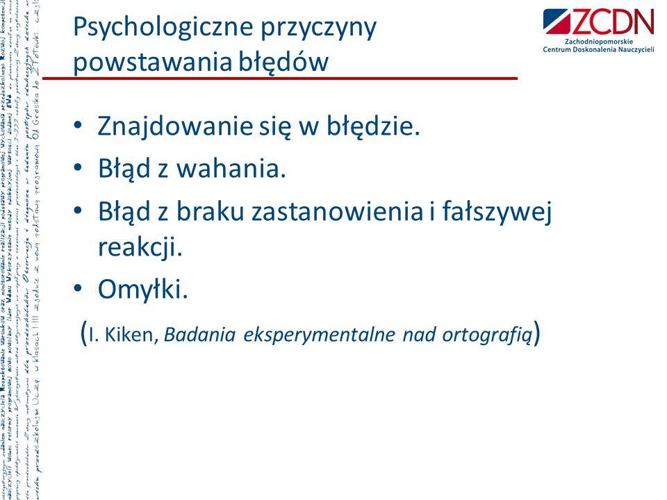 Psychologiczne przyczyny powstawania błędów