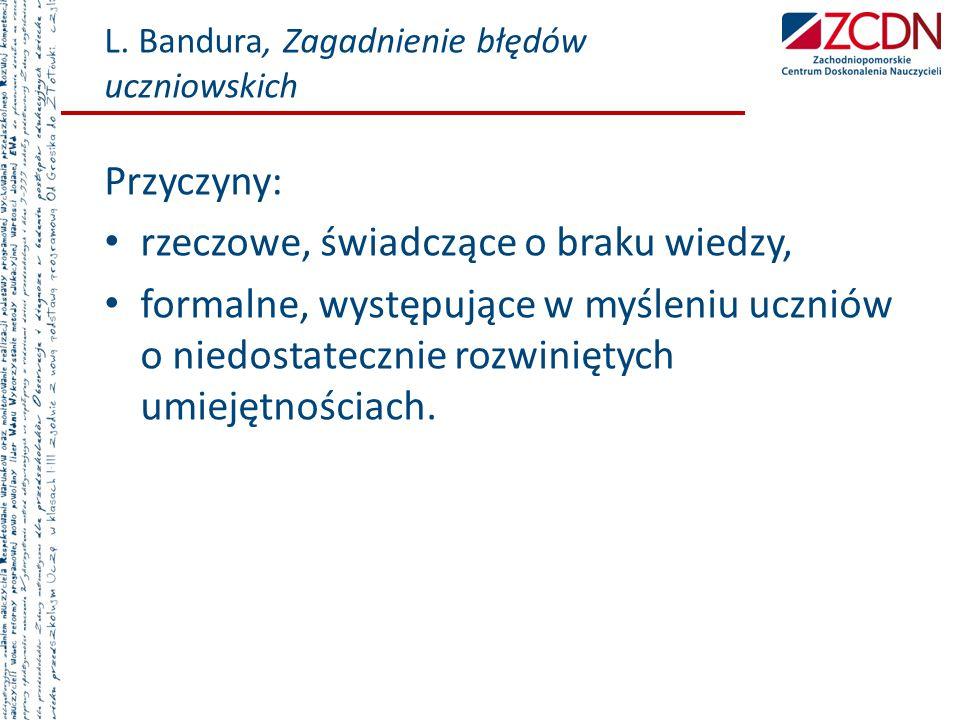 L. Bandura, Zagadnienie błędów uczniowskich