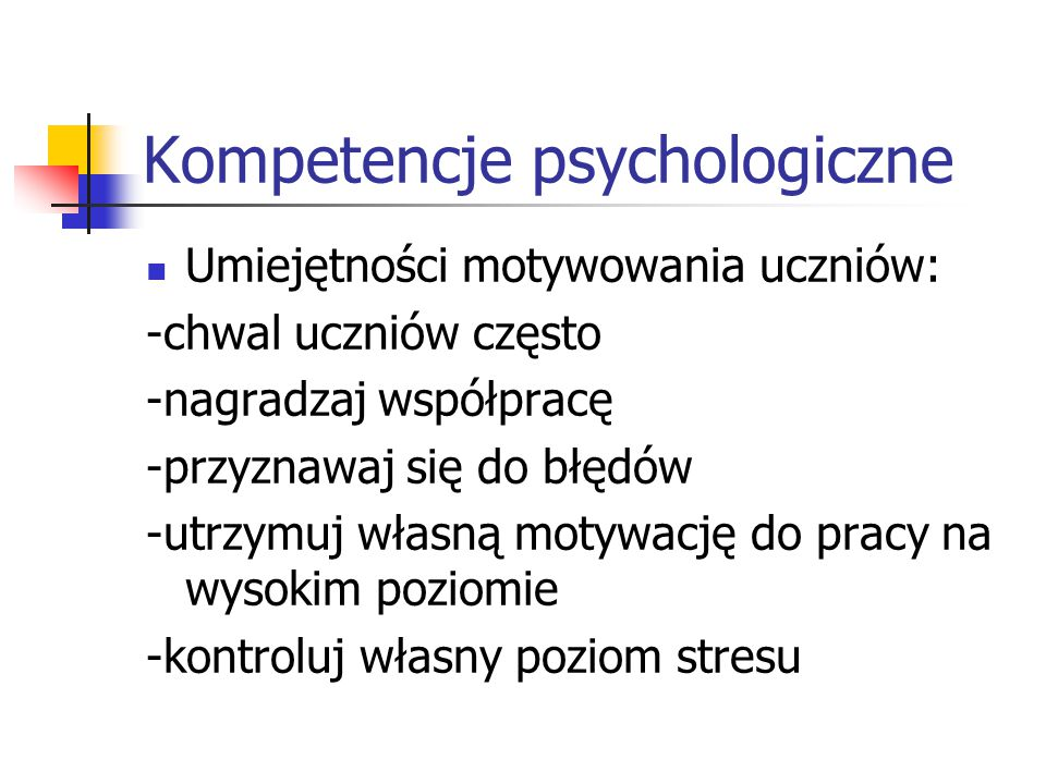 Kompetencje psychologiczne