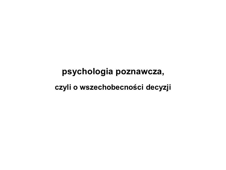 psychologia poznawcza,