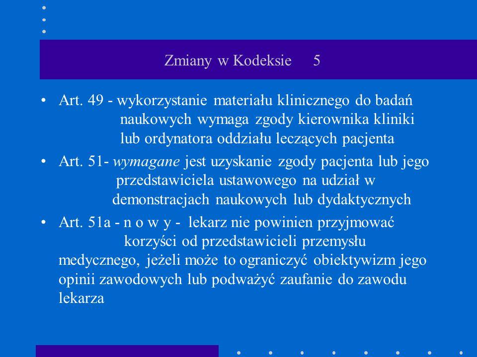 Zmiany w Kodeksie 5