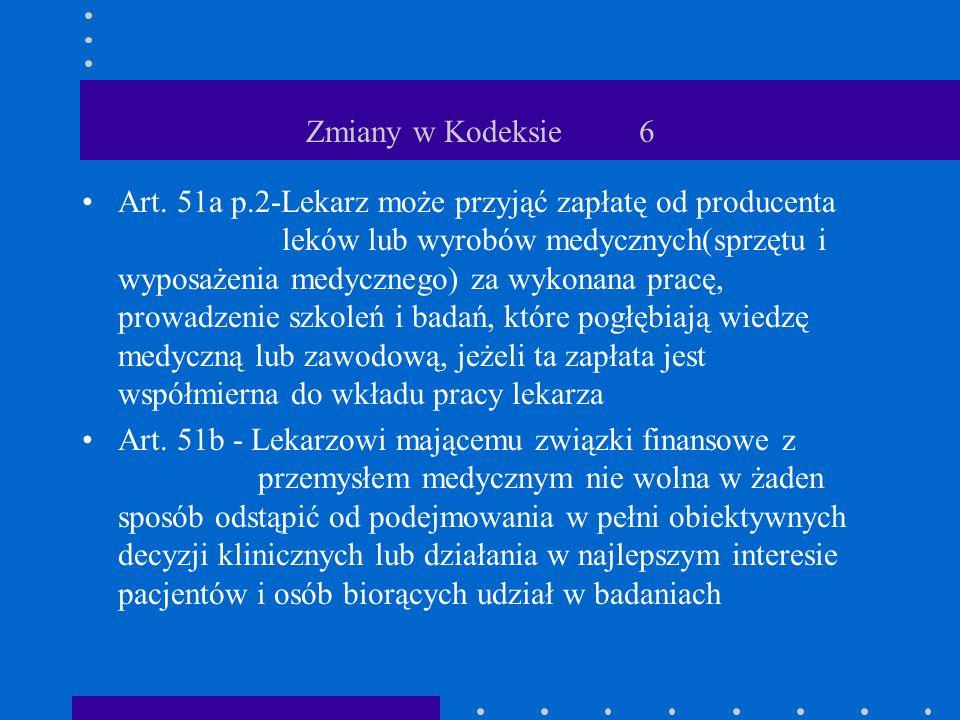 Zmiany w Kodeksie 6