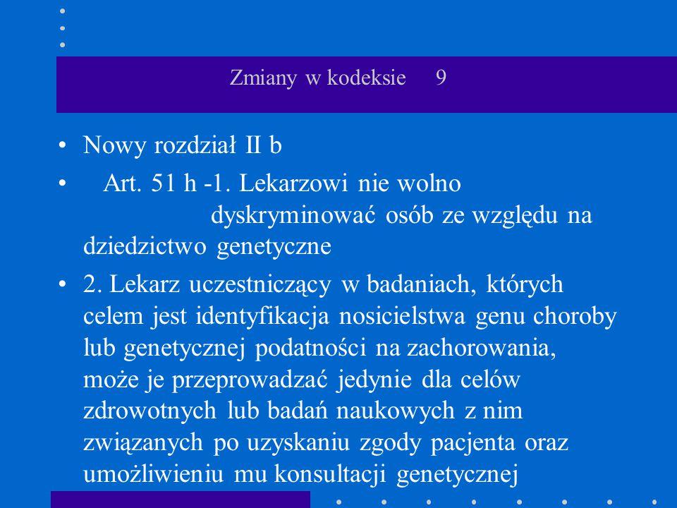 Zmiany w kodeksie 9 Nowy rozdział II b.