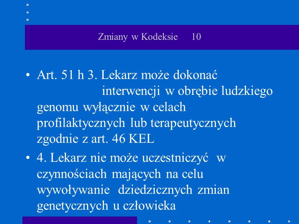 Zmiany w Kodeksie 10