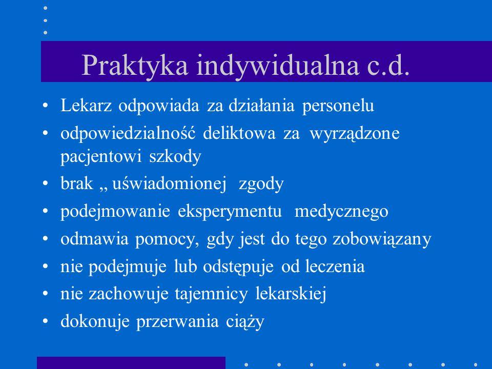 Praktyka indywidualna c.d.