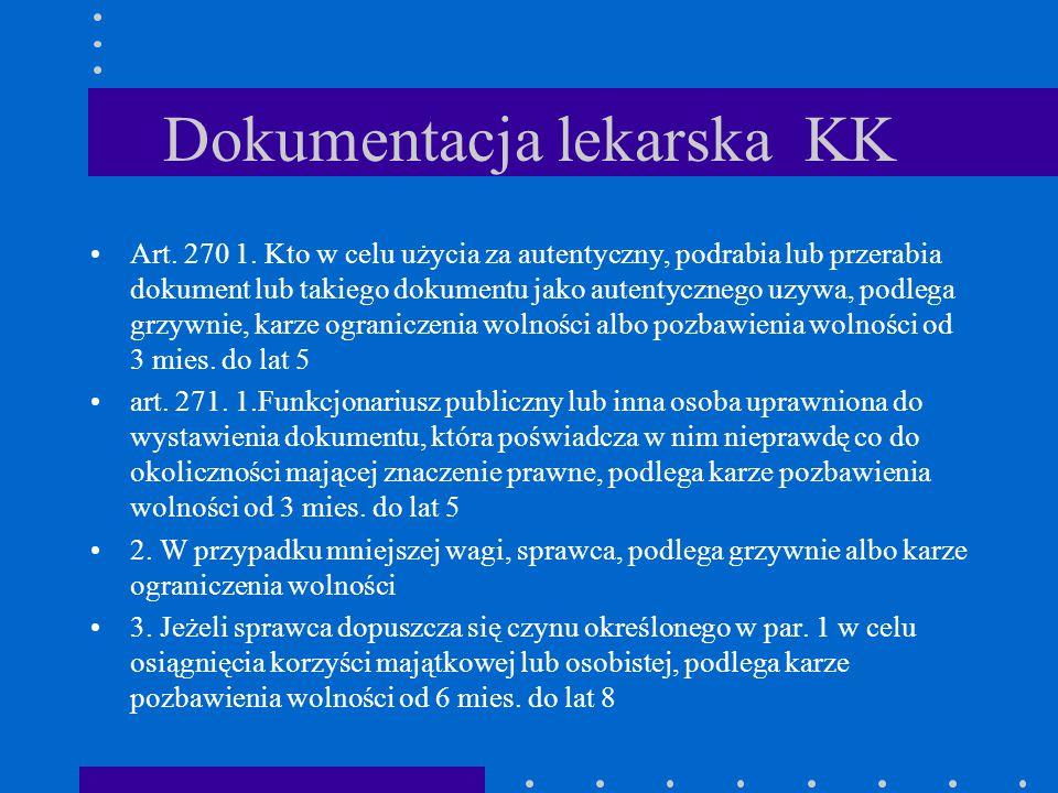 Dokumentacja lekarska KK