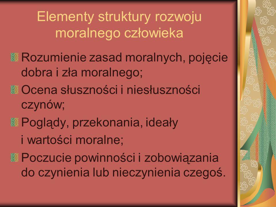 Elementy struktury rozwoju moralnego człowieka