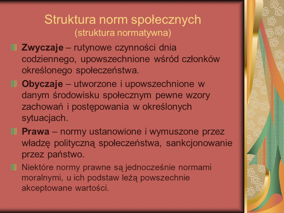 Struktura norm społecznych (struktura normatywna)