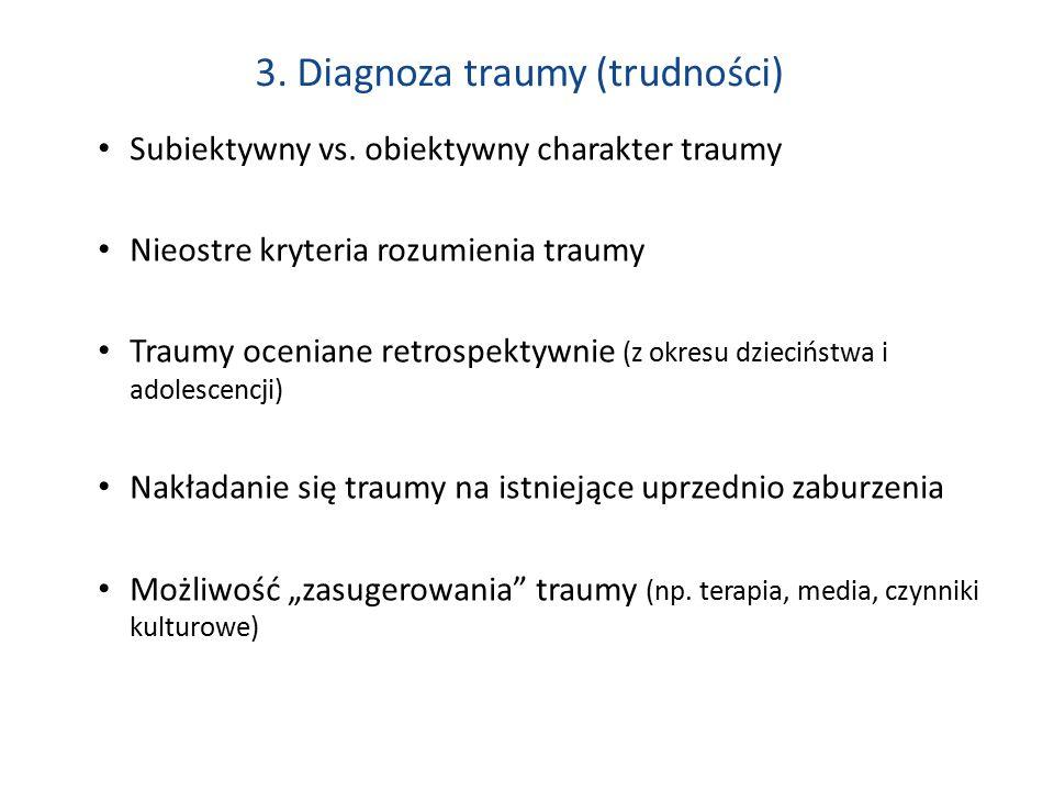 3. Diagnoza traumy (trudności)