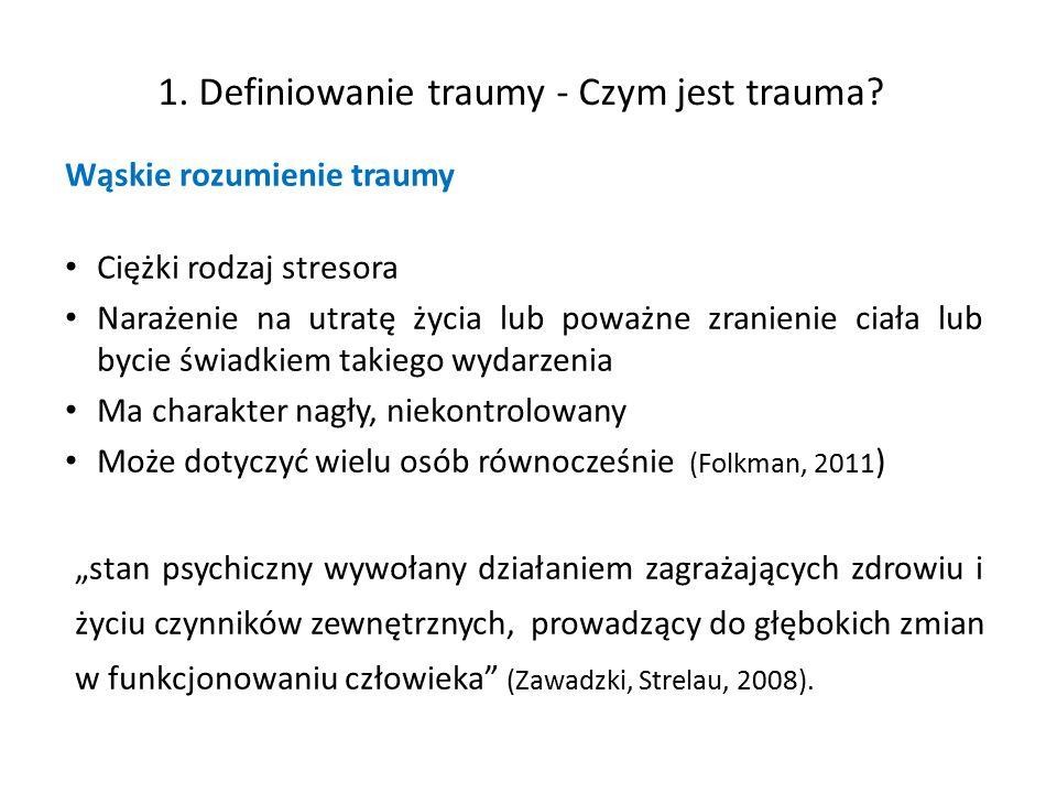 1. Definiowanie traumy - Czym jest trauma