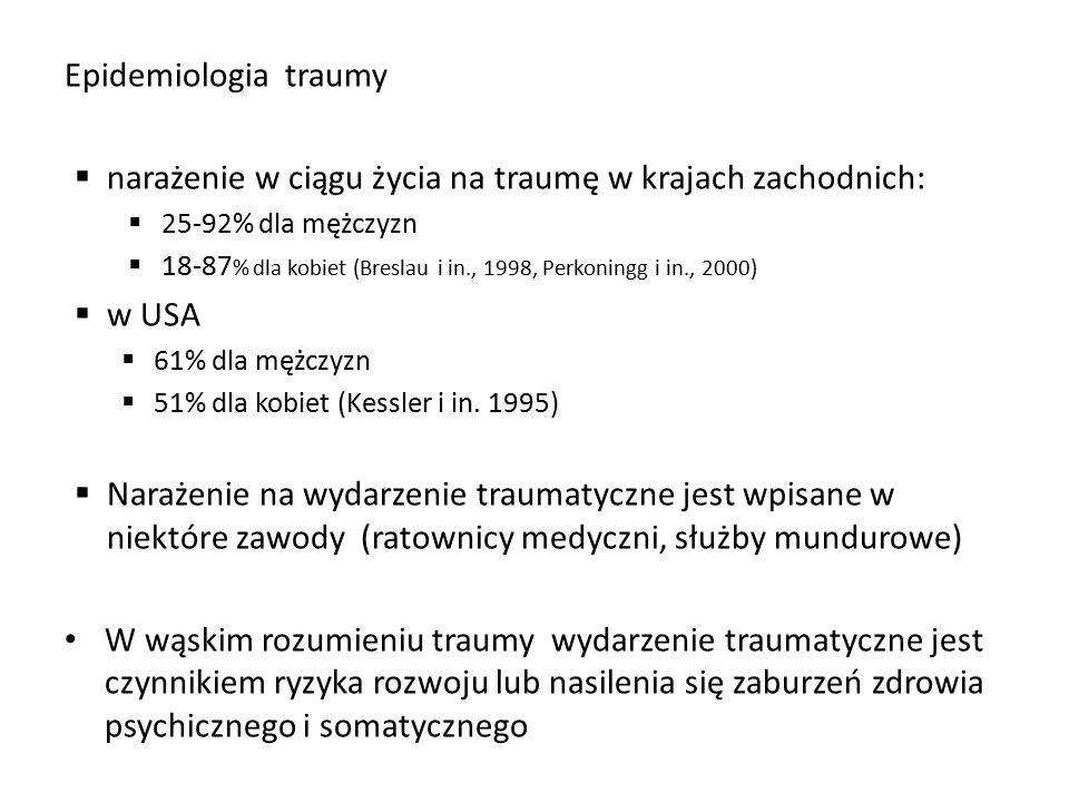 narażenie w ciągu życia na traumę w krajach zachodnich:
