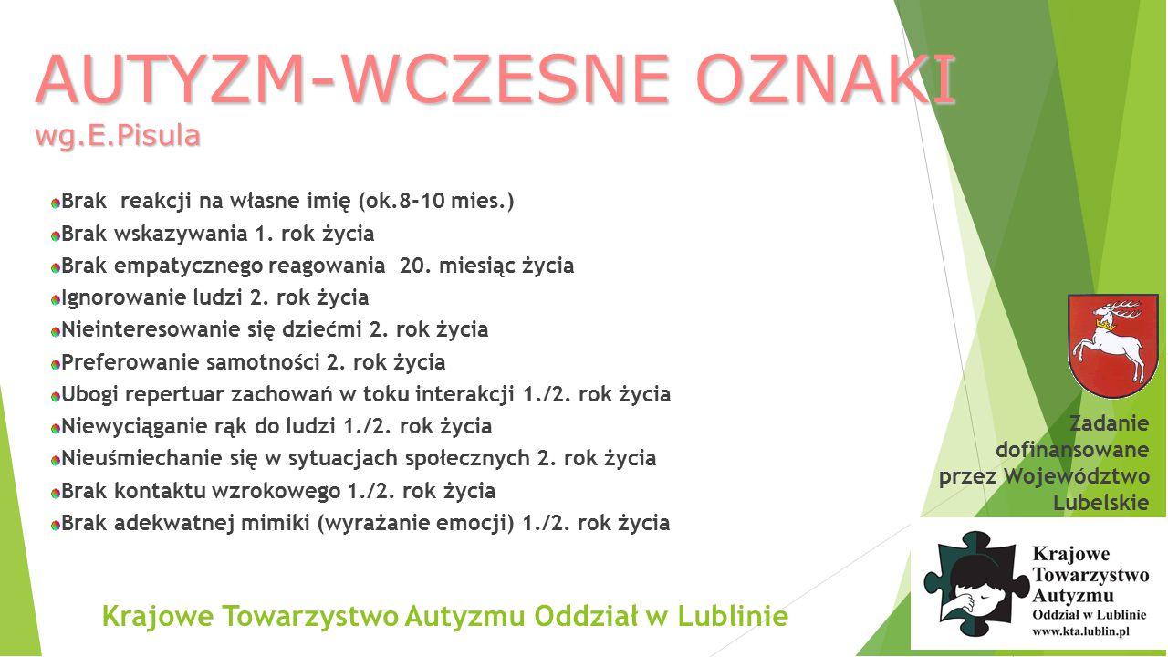 AUTYZM-WCZESNE OZNAKI wg.E.Pisula