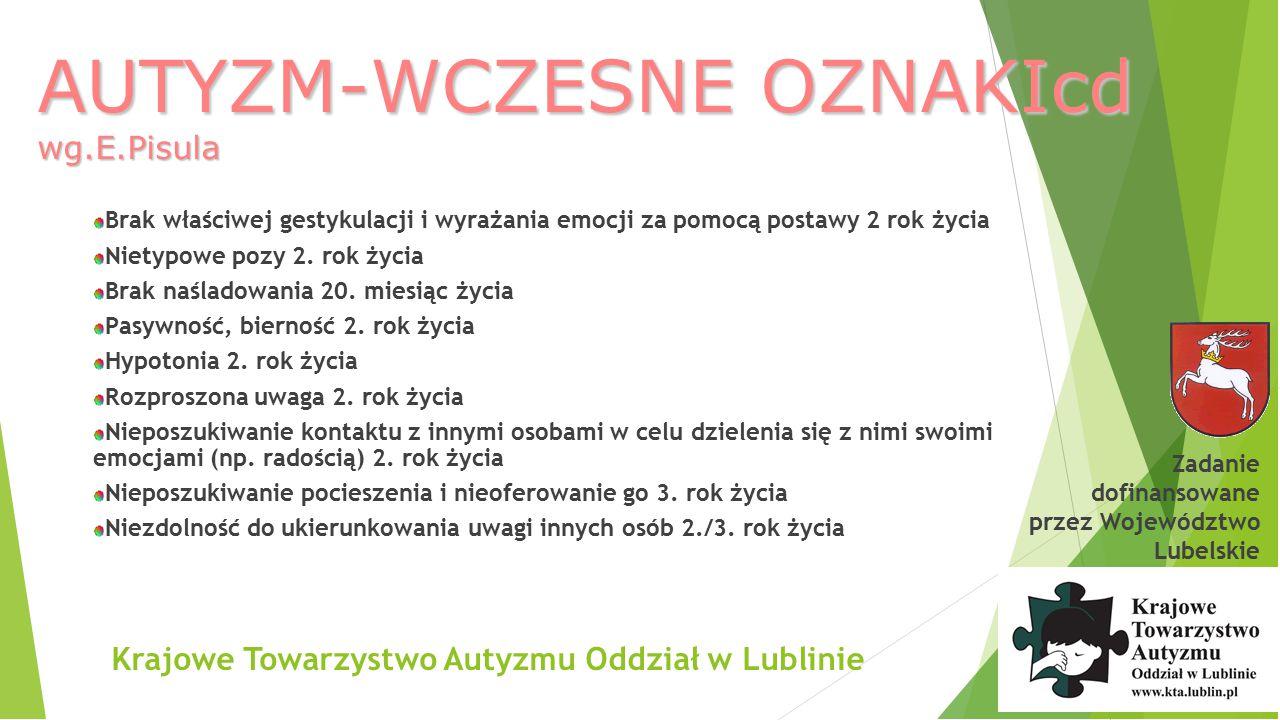 AUTYZM-WCZESNE OZNAKIcd wg.E.Pisula
