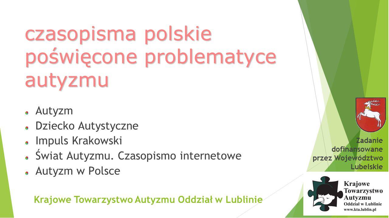 czasopisma polskie poświęcone problematyce autyzmu