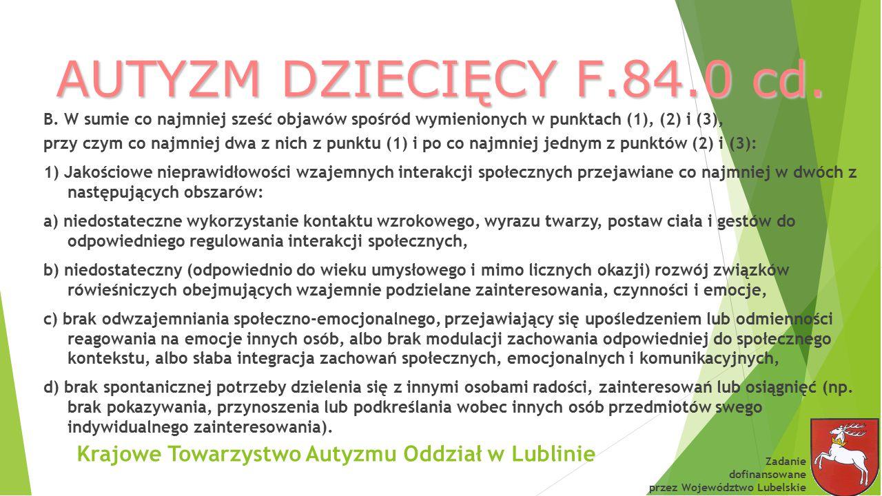 Krajowe Towarzystwo Autyzmu Oddział w Lublinie
