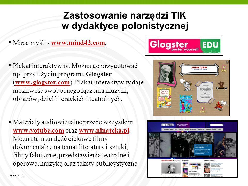 Zastosowanie narzędzi TIK w dydaktyce polonistycznej