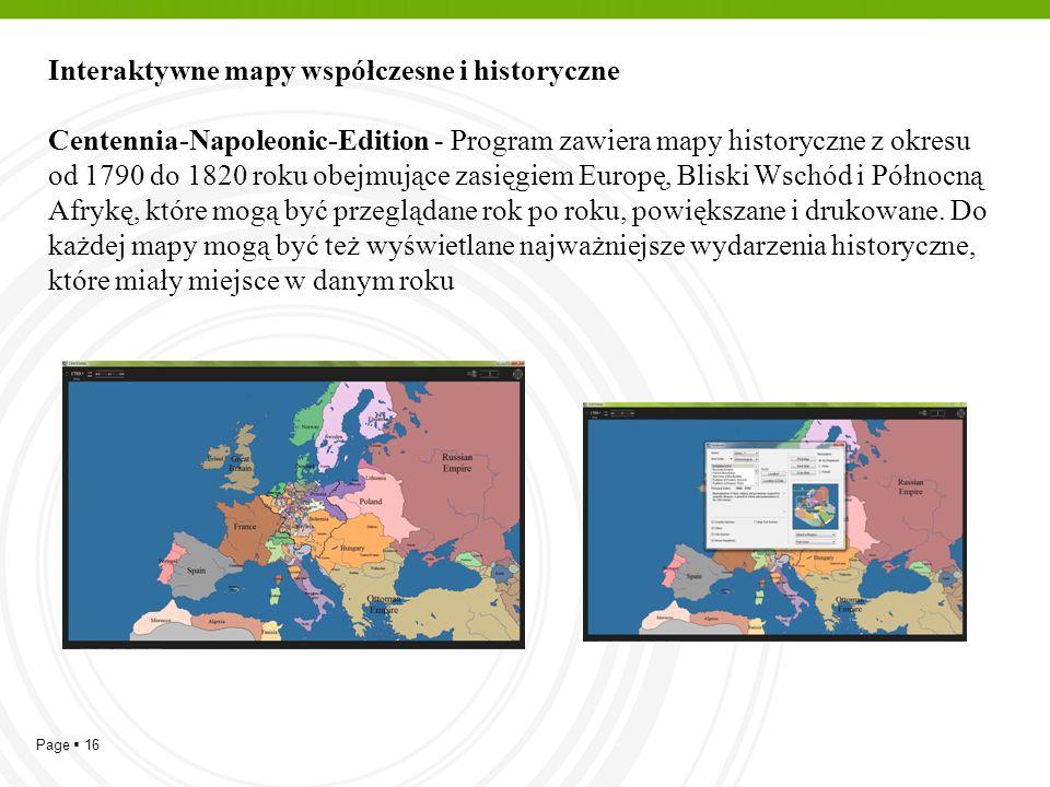 Interaktywne mapy współczesne i historyczne