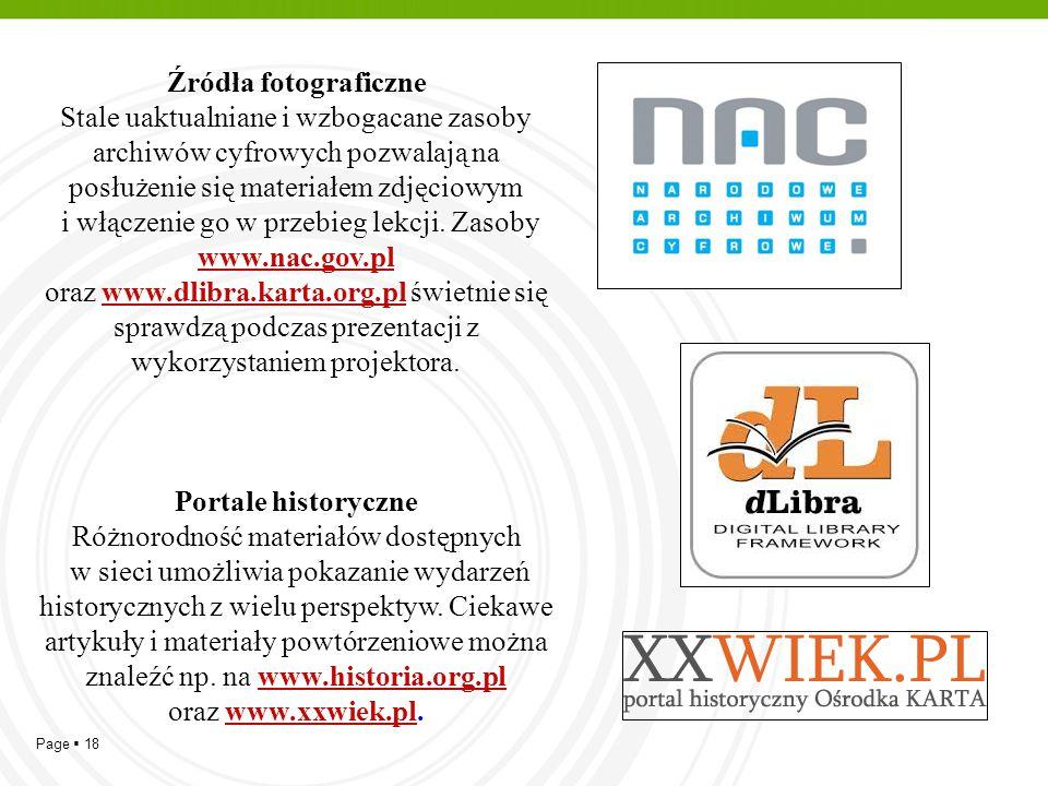 i włączenie go w przebieg lekcji. Zasoby www.nac.gov.pl