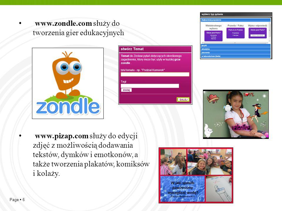 www.zondle.com służy do tworzenia gier edukacyjnych