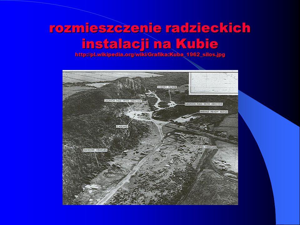 rozmieszczenie radzieckich instalacji na Kubie http://pl. wikipedia