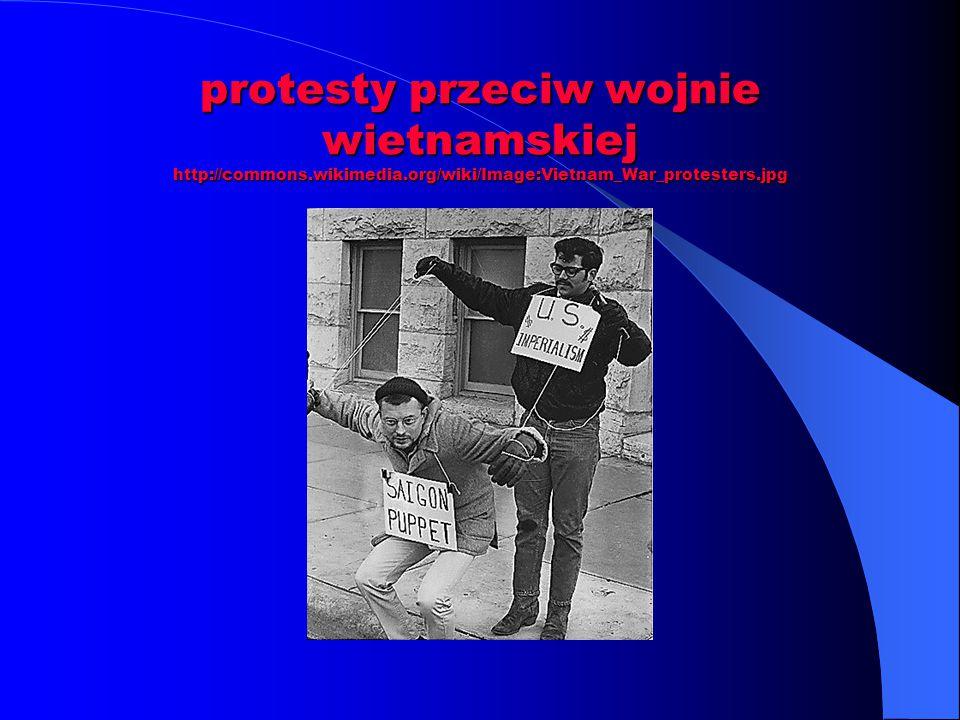 protesty przeciw wojnie wietnamskiej http://commons. wikimedia