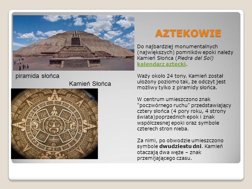 AZTEKOWIE piramida słońca Kamień Słońca