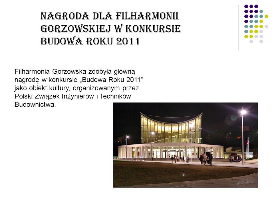 Nagroda dla Filharmonii Gorzowskiej w konkursie Budowa Roku 2011
