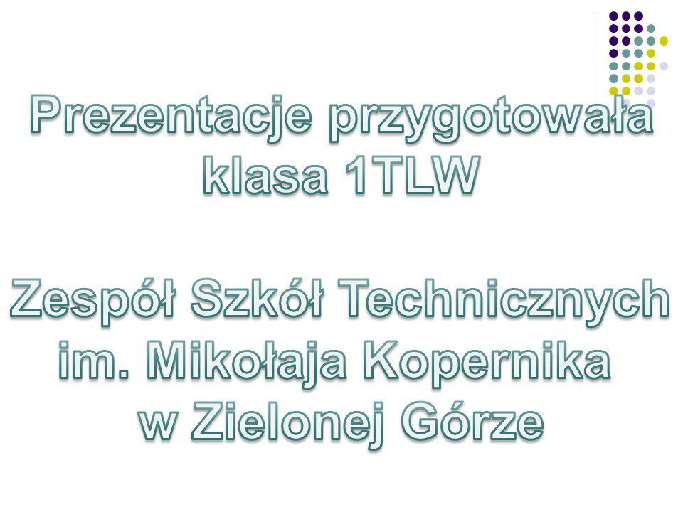 Prezentacje przygotowała klasa 1TLW Zespół Szkół Technicznych im