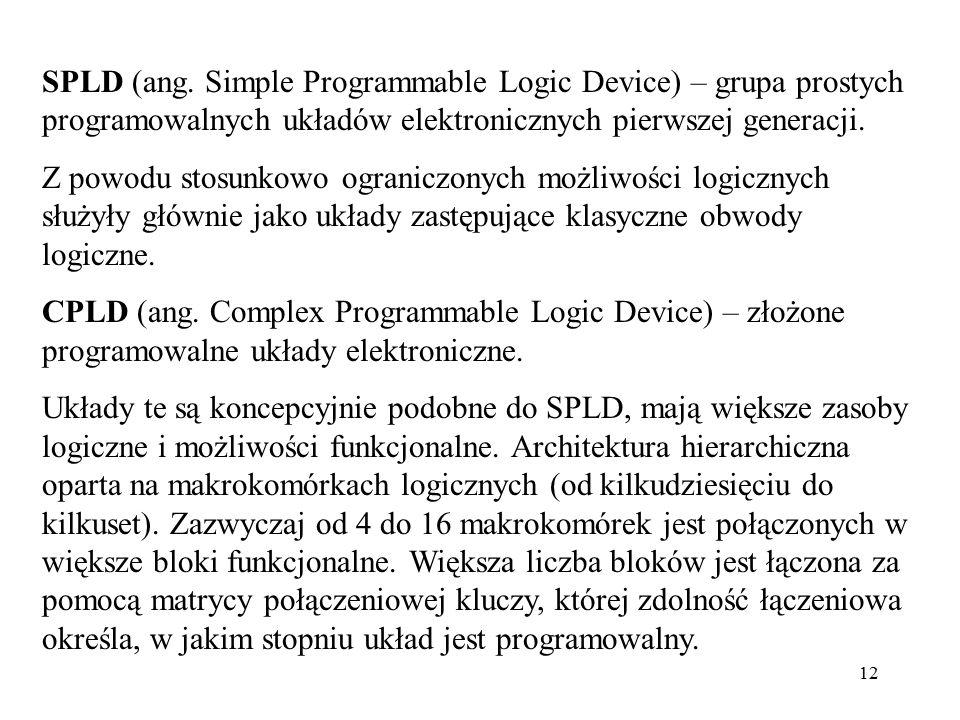 SPLD (ang. Simple Programmable Logic Device) – grupa prostych programowalnych układów elektronicznych pierwszej generacji.