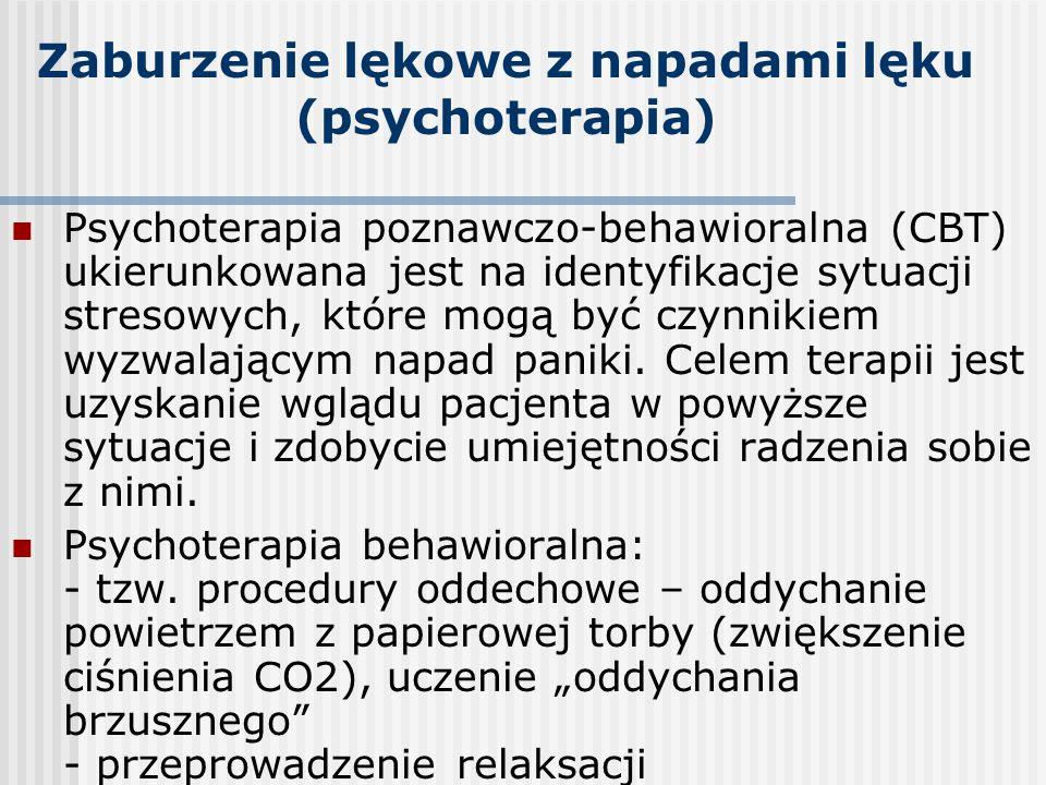 Zaburzenie lękowe z napadami lęku (psychoterapia)