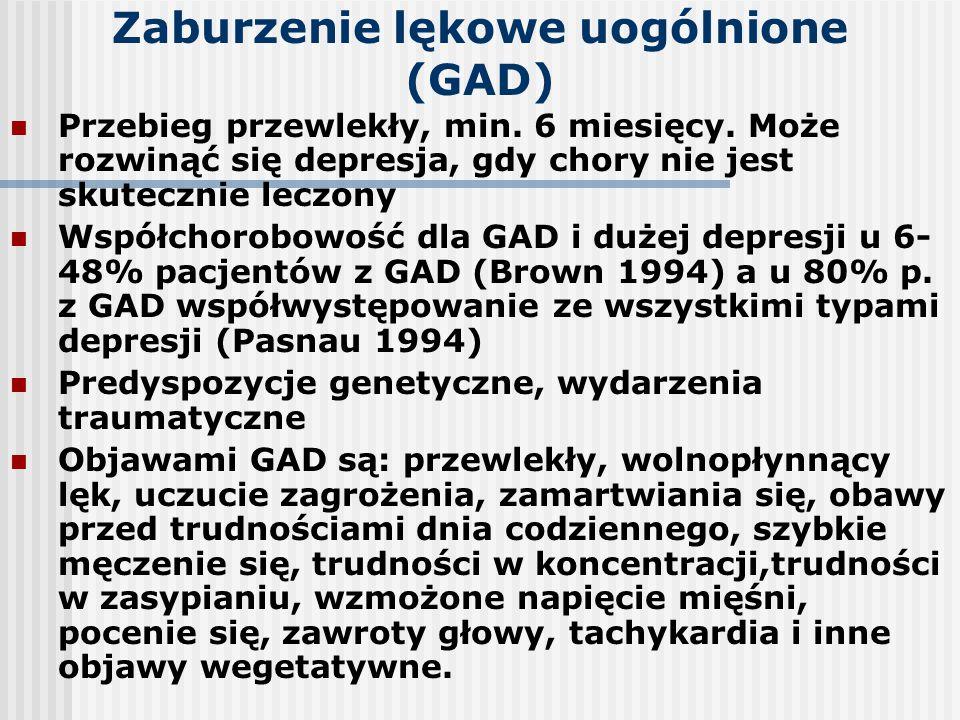 Zaburzenie lękowe uogólnione (GAD)
