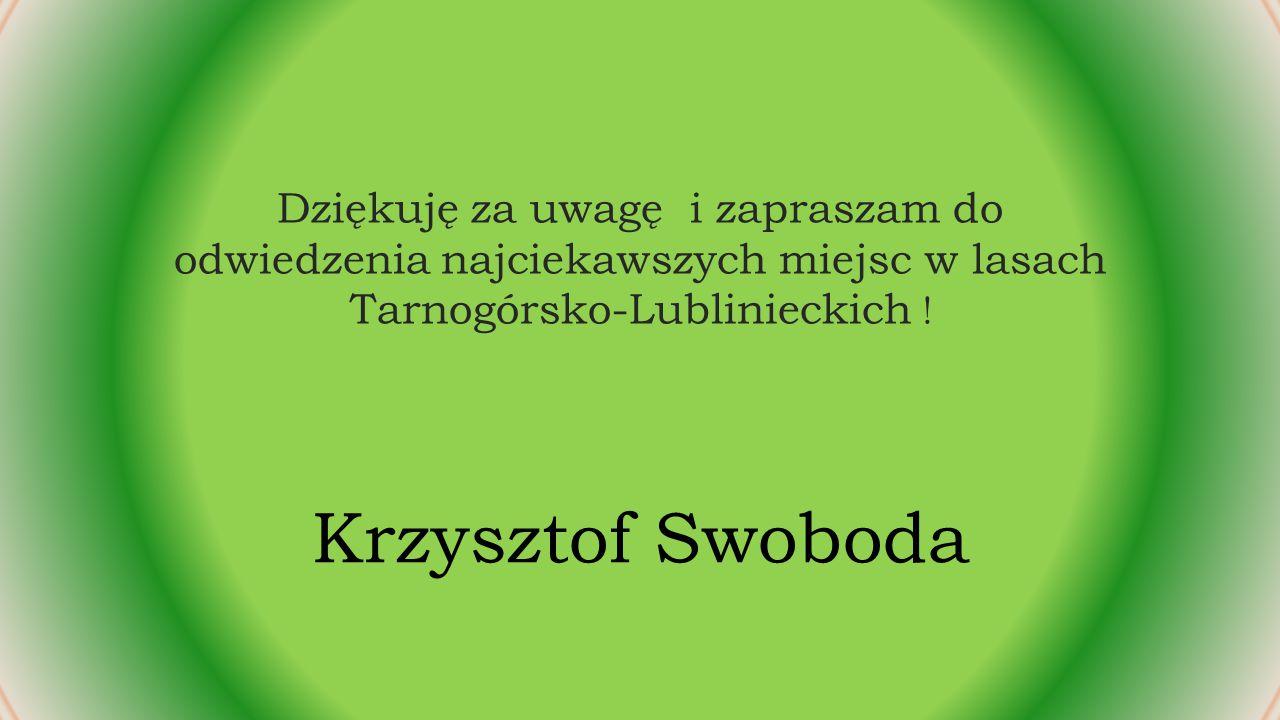 Dziękuję za uwagę i zapraszam do odwiedzenia najciekawszych miejsc w lasach Tarnogórsko-Lublinieckich !