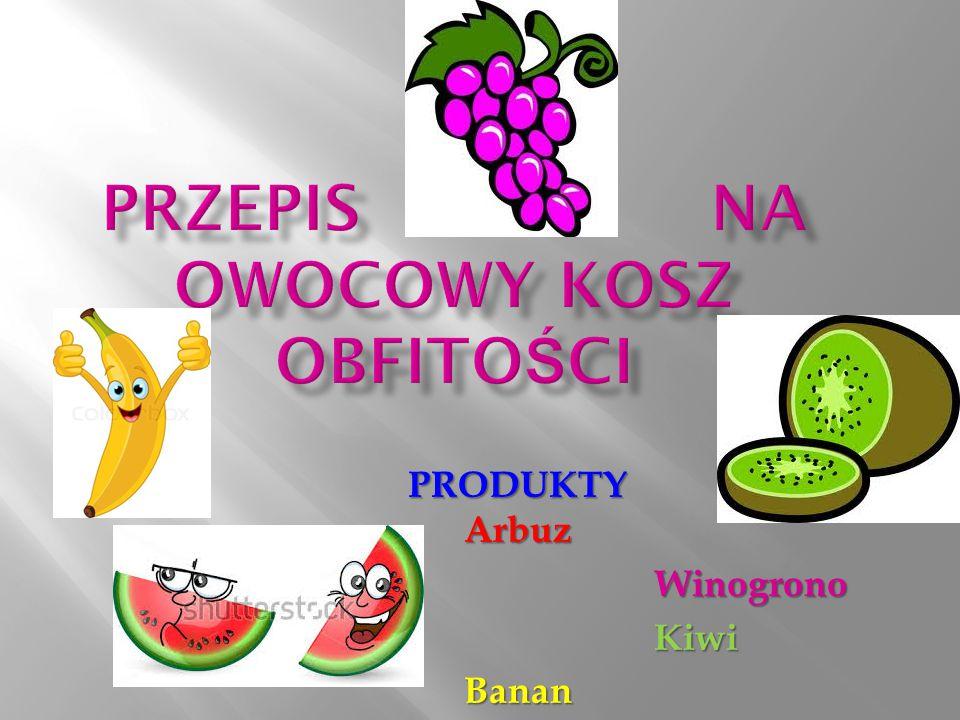 Przepis na owocowy kosz obfitości