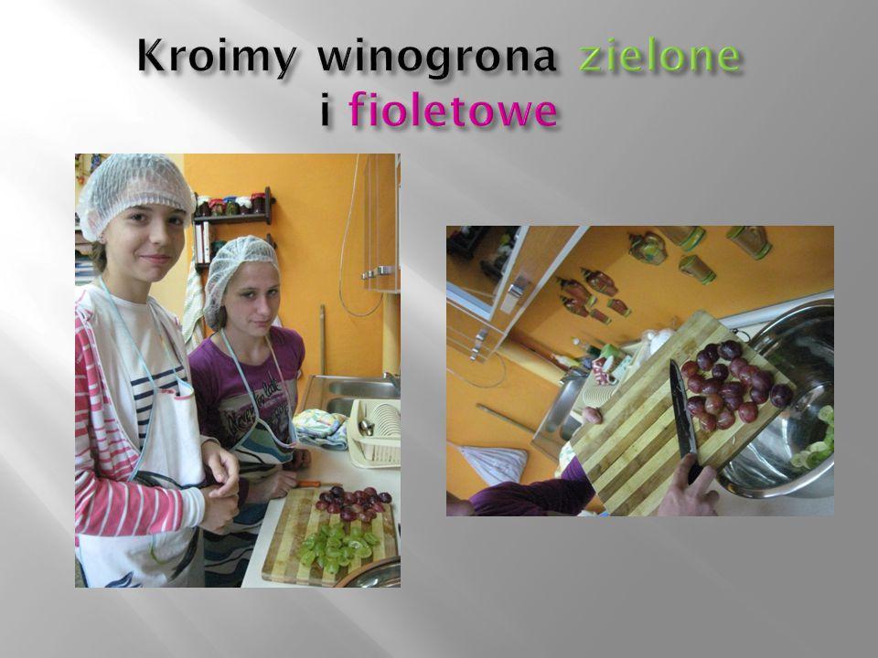 Kroimy winogrona zielone i fioletowe