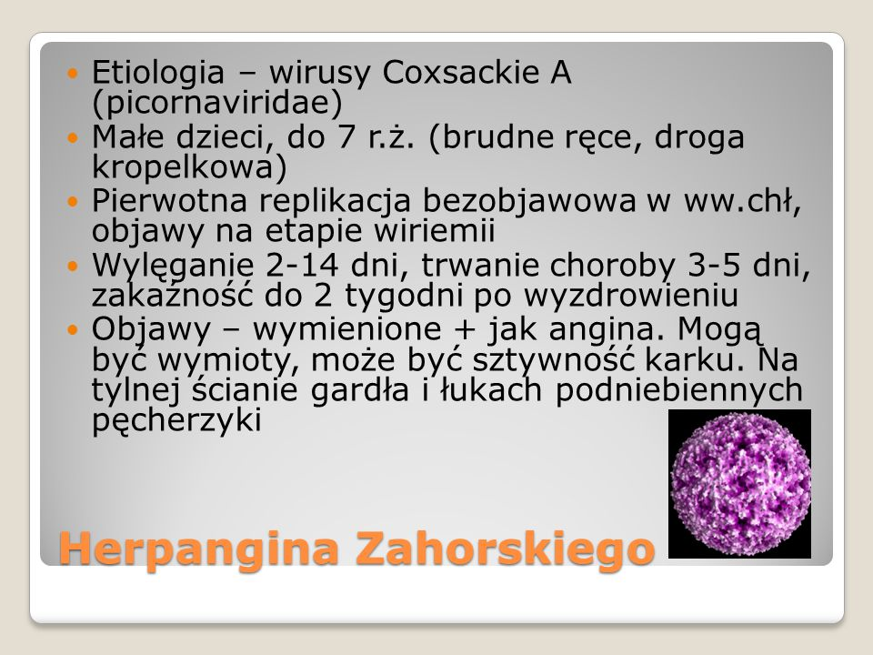 Herpangina Zahorskiego