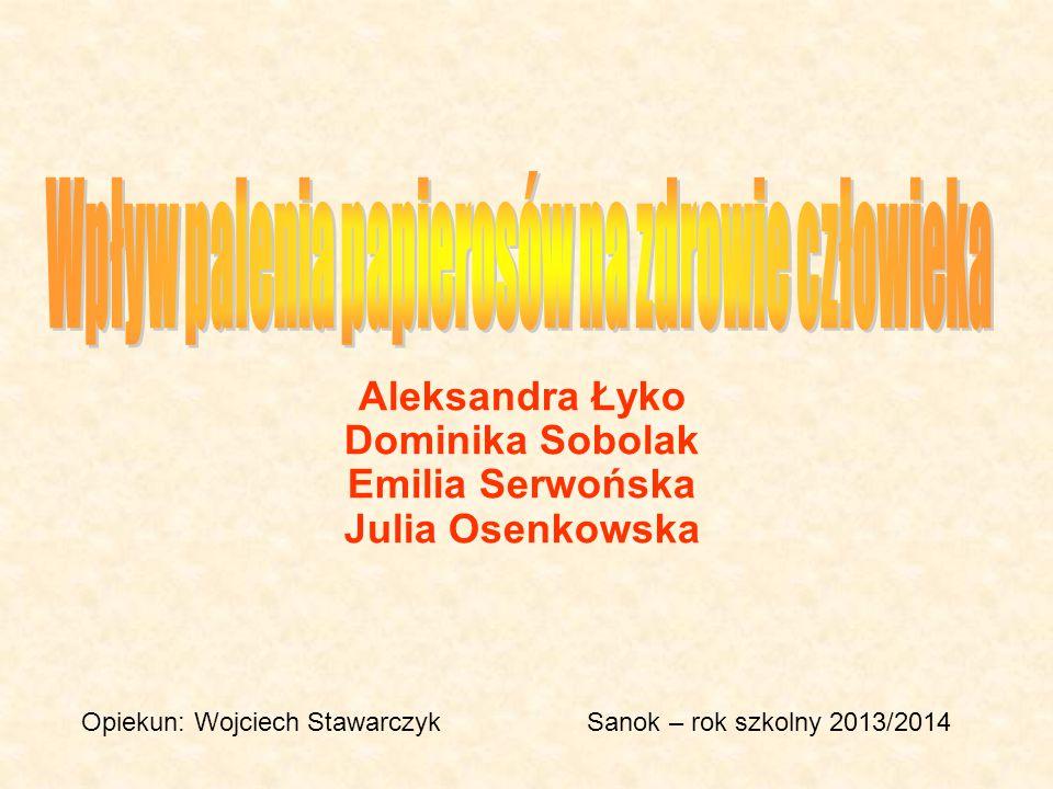 Aleksandra Łyko Dominika Sobolak Emilia Serwońska Julia Osenkowska