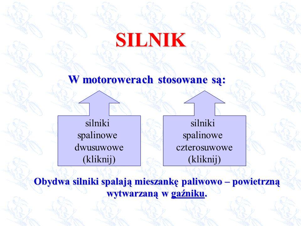 W motorowerach stosowane są: