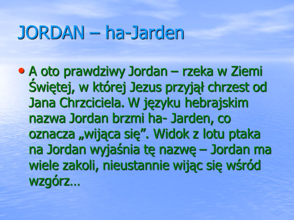 JORDAN – ha-Jarden