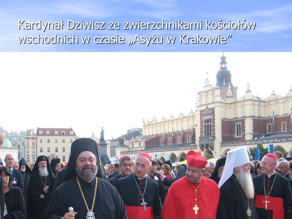 """Kardynał Dziwisz ze zwierzchnikami kościołów wschodnich w czasie """"Asyżu w Krakowie"""