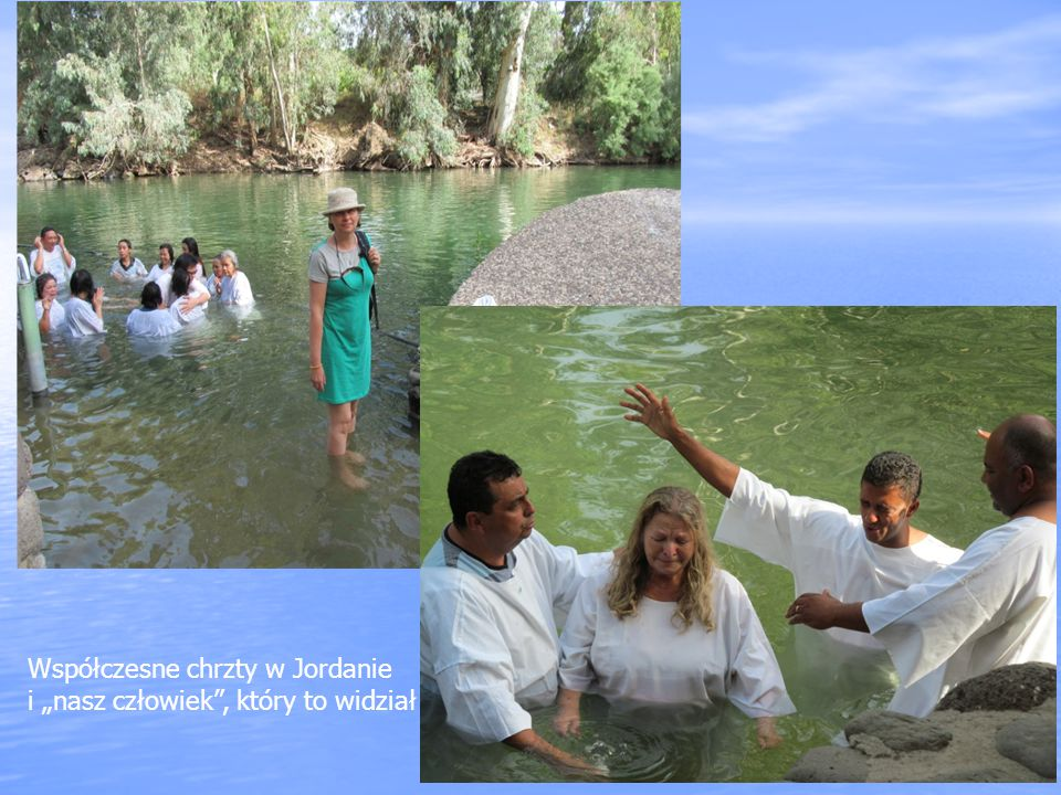 Współczesne chrzty w Jordanie