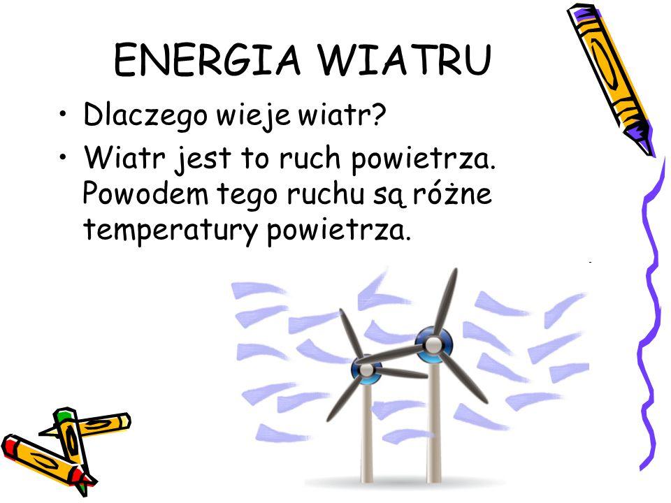ENERGIA WIATRU Dlaczego wieje wiatr