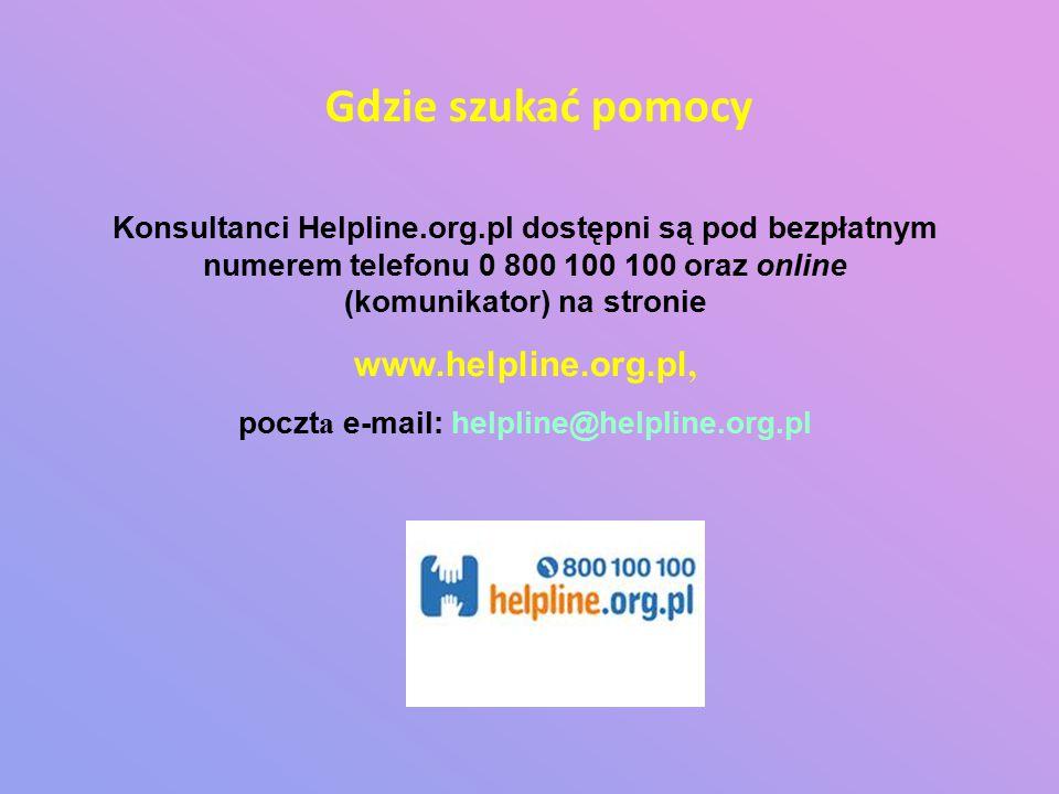 poczta e-mail: helpline@helpline.org.pl