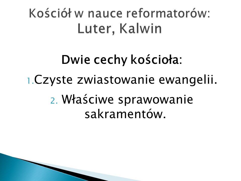Kościół w nauce reformatorów: Luter, Kalwin