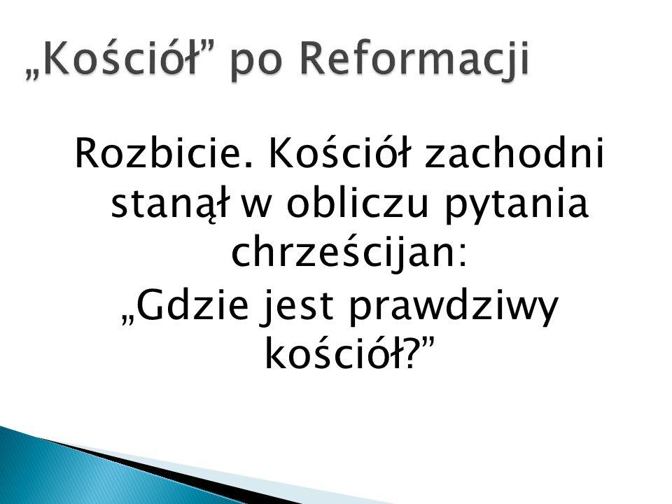 """""""Kościół po Reformacji"""
